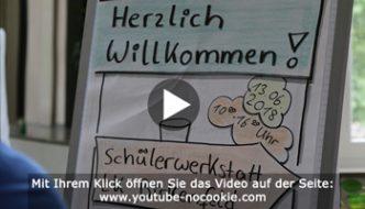 Ein Bild aus dem Video über die 1. Schülerwerkstatt