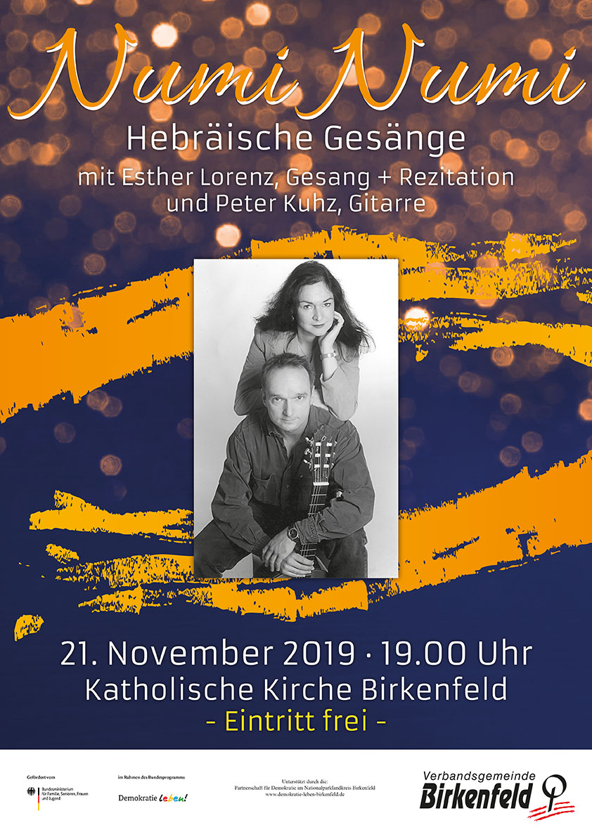 Numi Numi, Hebräische Gesänge, Konzert am 21. November 2019 um 19 uhr in der Katholischen Kirche Birkenfeld