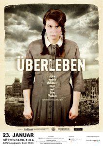 Plakat zur Theateraufführung ÜBERdasLEBEN