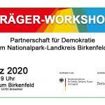 Träger-Workshop der Partnerschaft für Demokratie am 4. März 2020 von 16-19 Uhr im Jugendzentrum in Birkenfeld, Auf Ellenborn 28, 55765 Birkenfeld