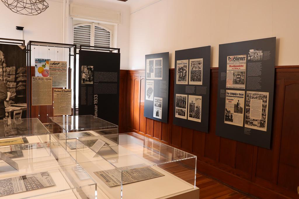 Die Ausstellung von innen