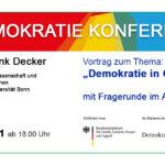 symbolbild: Text: Demokratiekonferenz und Eckdaten